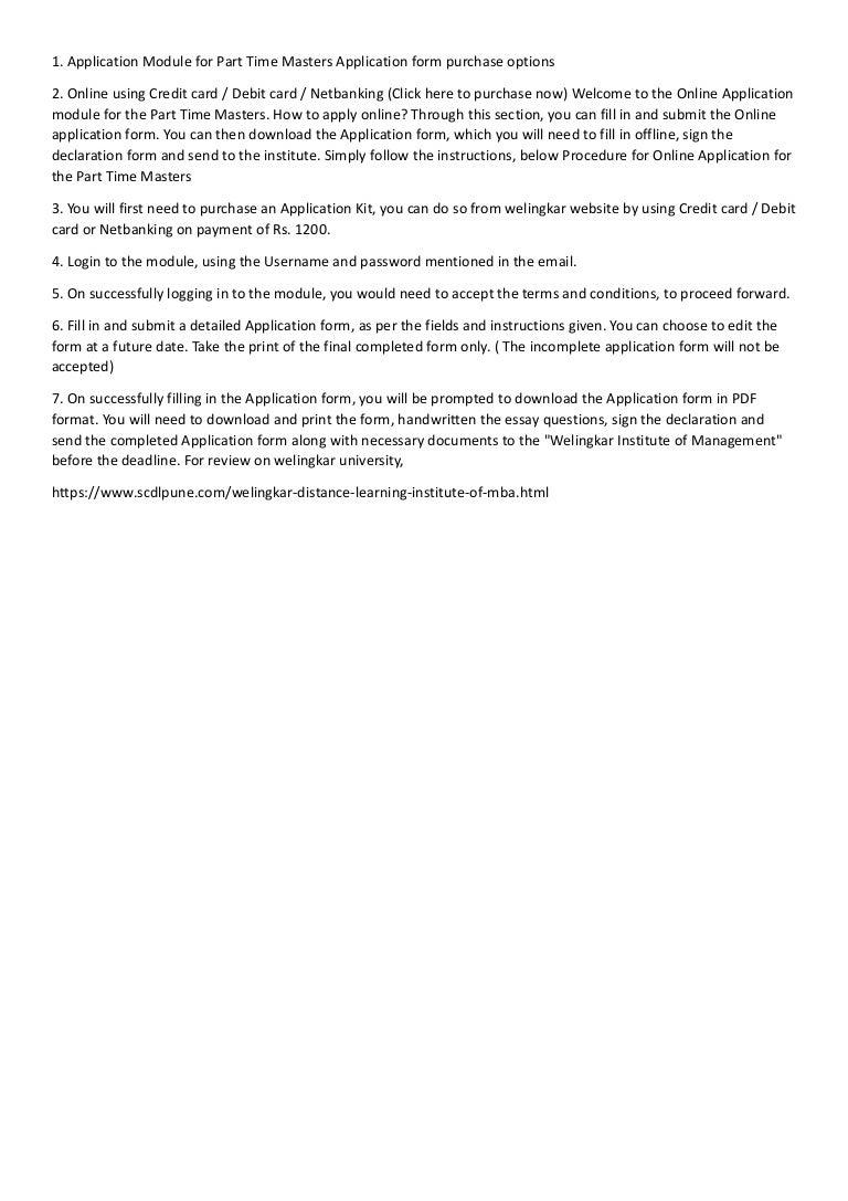 essay questions in welingkar form