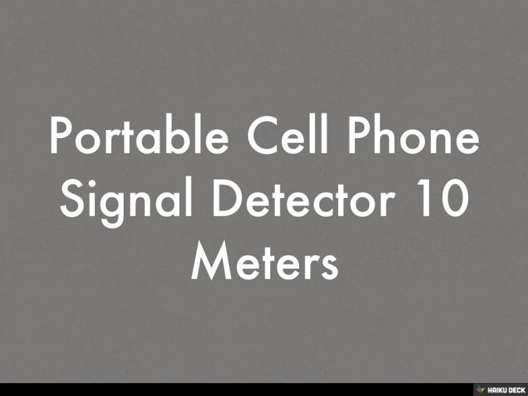 Portable Cell Phone Signal Detector 10 Meters