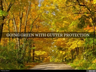 Going Green with Gutter Protection by LeafFilter