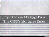 Impact of New Mortgage Rules
