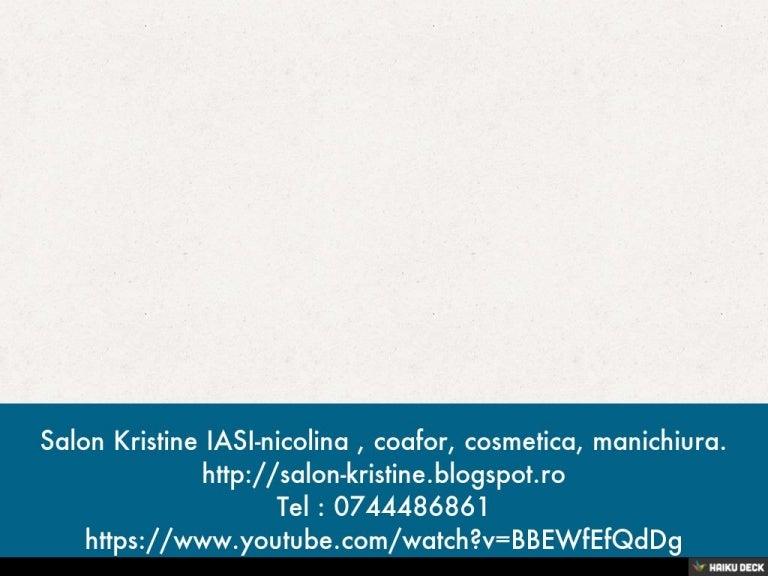 Salon Kristine Iasi Nicolina Coafor Cosmetica Manichiura 0744486861