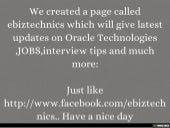 ebiztechnics is now on Facebook