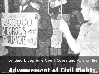 Advancement of Civil Rights.