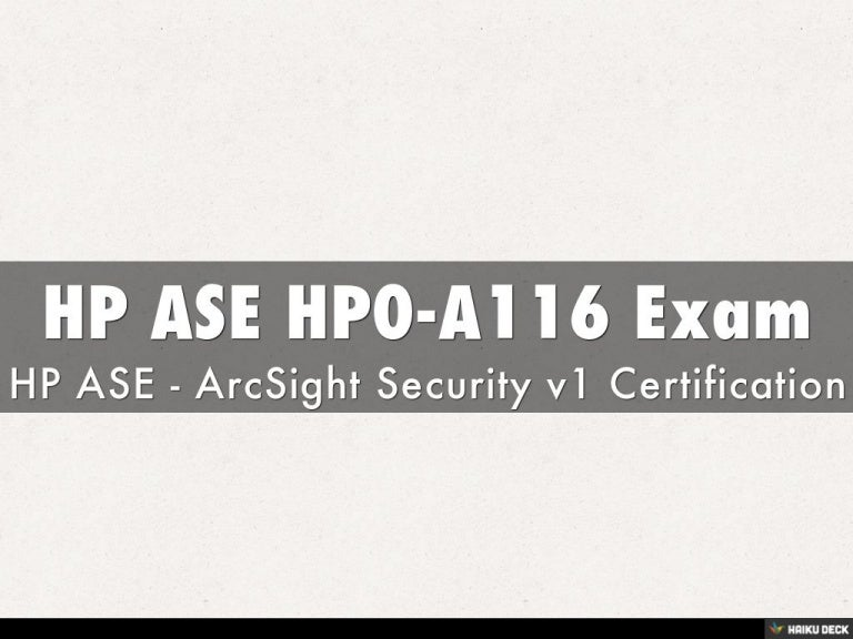 Hp Ase Hp0 A116 Exam Justcerts Updated 2016