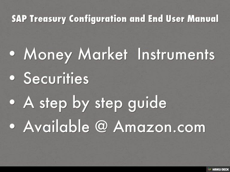 sap treasury configuration and end user manual rh slideshare net sap treasury configuration guide pdf SAP Treasury Workstation