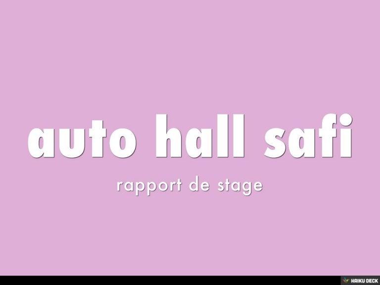 Auto Hall Safi