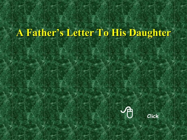 A fathers letter to his daughter spiritdancerdesigns Image collections