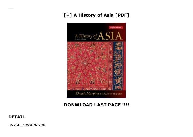 a history of asia rhoads murphey free pdf