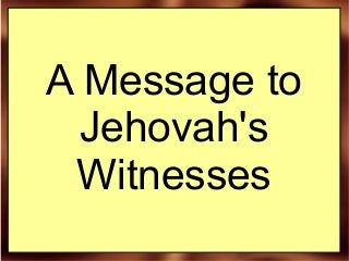 Jehovah's Witness co-worker?