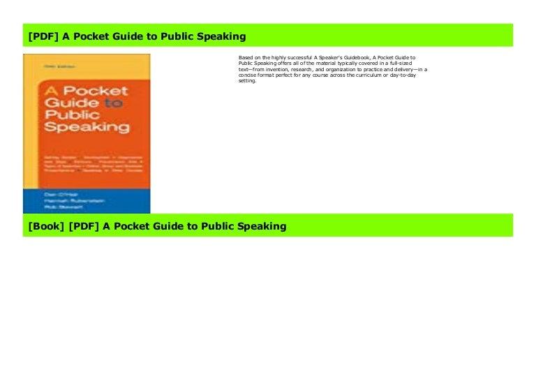 pdf] a pocket guide to public speaking  slideshare