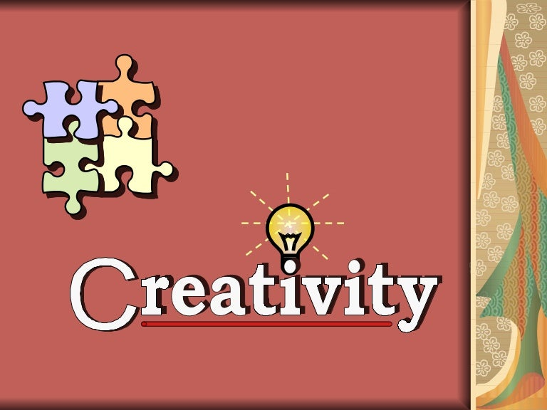 a presentation of creativity training