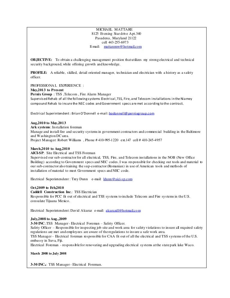 Mike mattare resume 1 publicscrutiny Choice Image