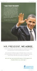 Full Page Pro-Drilling Advertisement Aimed at President Obama