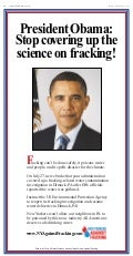 Full Page Anti-Drilling Advertisement Aimed at President Obama