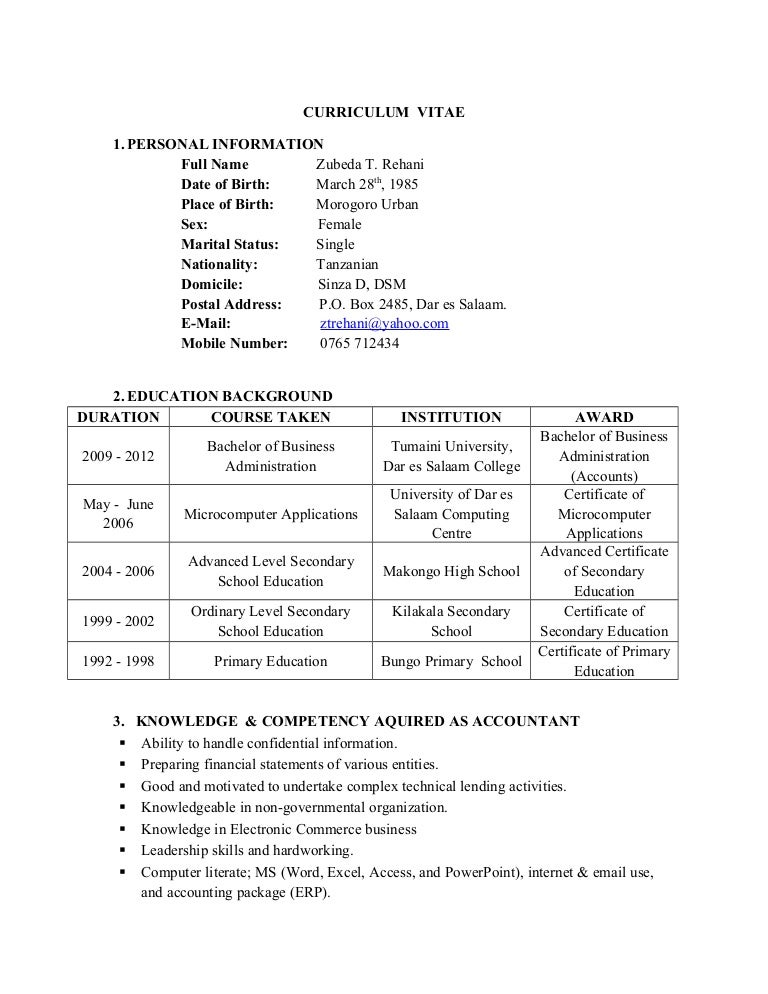 zubeda rehani u0026 39 s resume