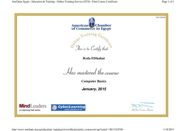 computer certificate basics training slideshare final egypt upcoming
