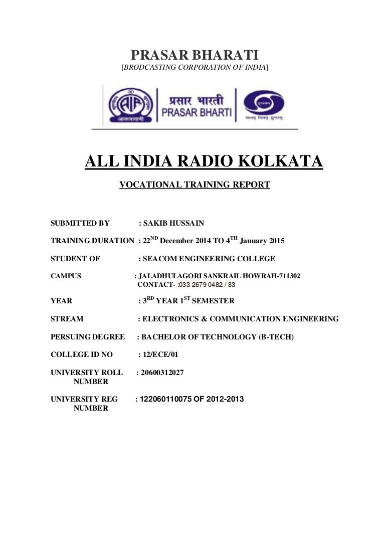 All India Radio Training Report Block Diagram For An Fm Transmitter Using Indirect Is Attached What