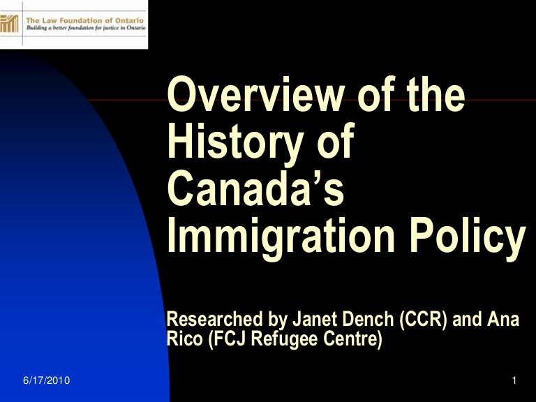 a personal overview on the topic of immigration The topic: immigration: easier  lbs of personal  an overview of immigration to canada during the 1800's.