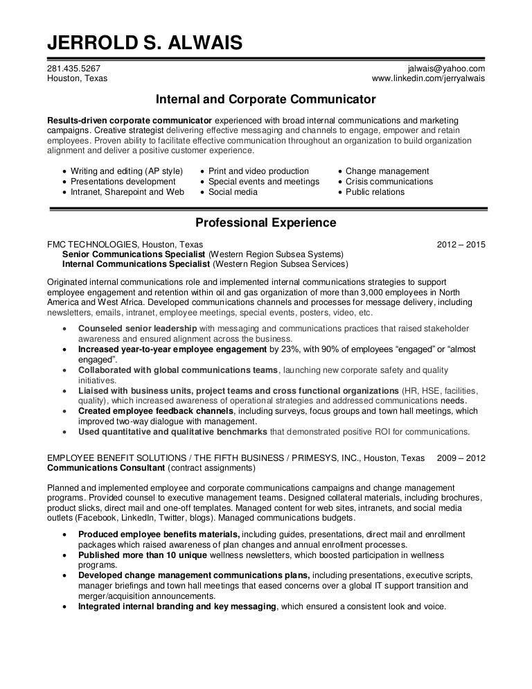 Internal Communications Resumes