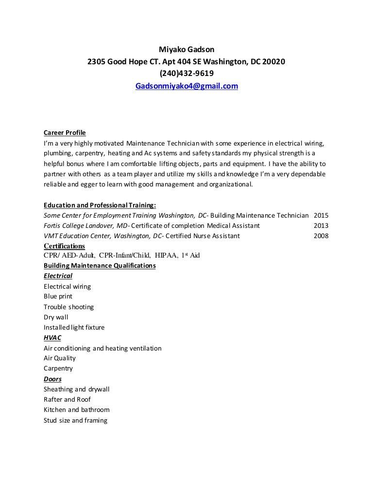 miyako building maintenance resume 1
