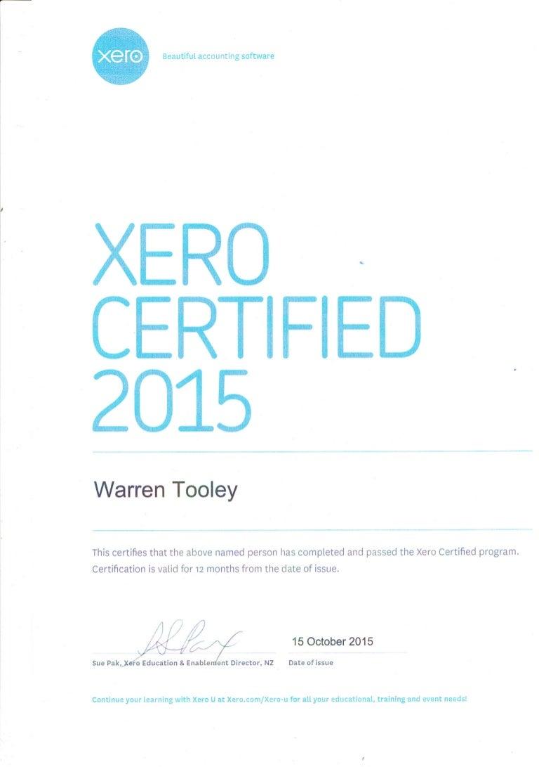 Certification xero certification 1betcityfo Gallery