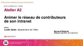 A2. Animer un réseau de contributeurs