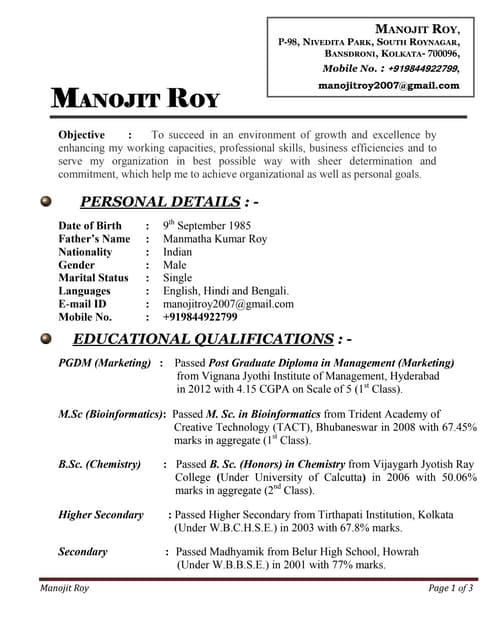 Resume_ Manojit Roy_ Marketing