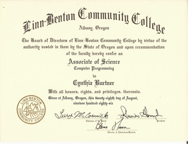 As Computer Programming Degree Certificate