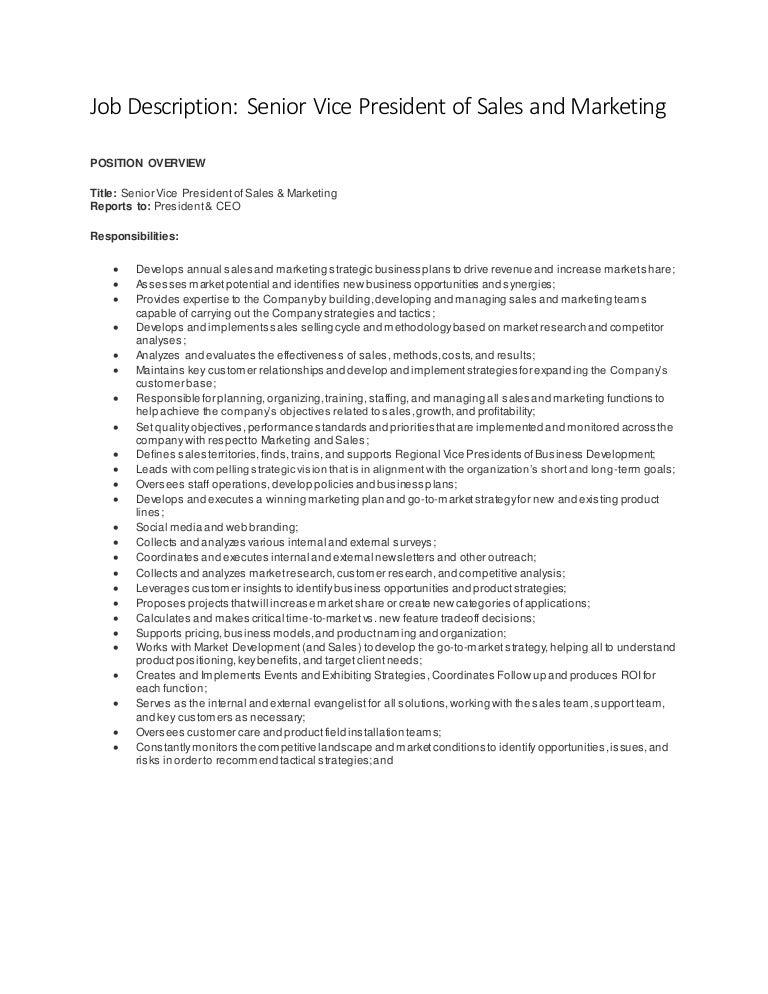 vice president job description