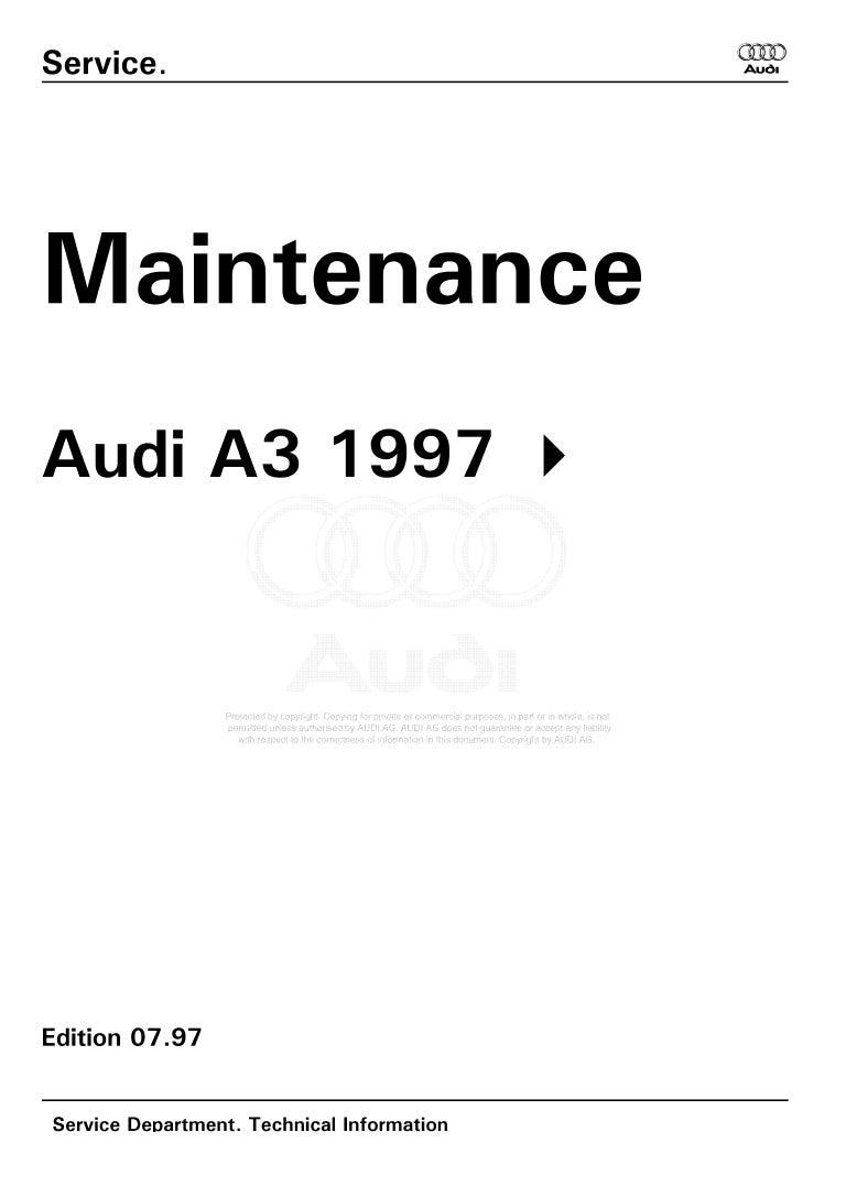 Audi A3 1997 Service Manual