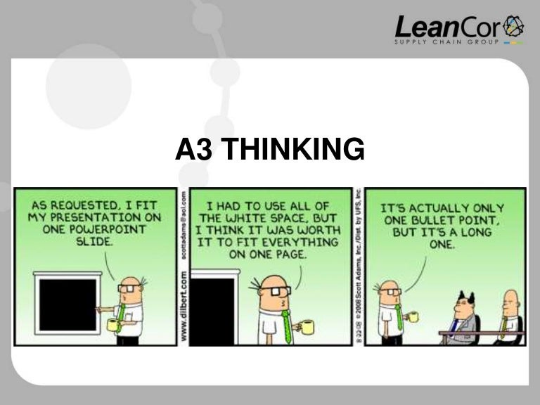 a3 thinking, Modern powerpoint