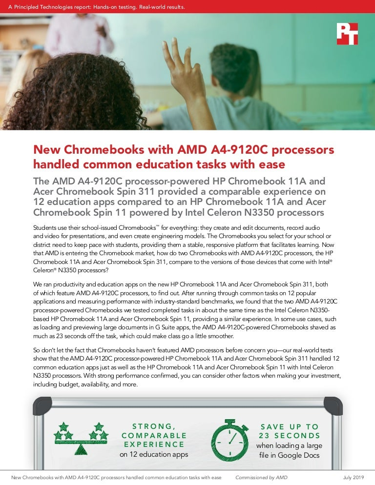 New Chromebooks With Amd A4 9120c Processors Handled Common Education