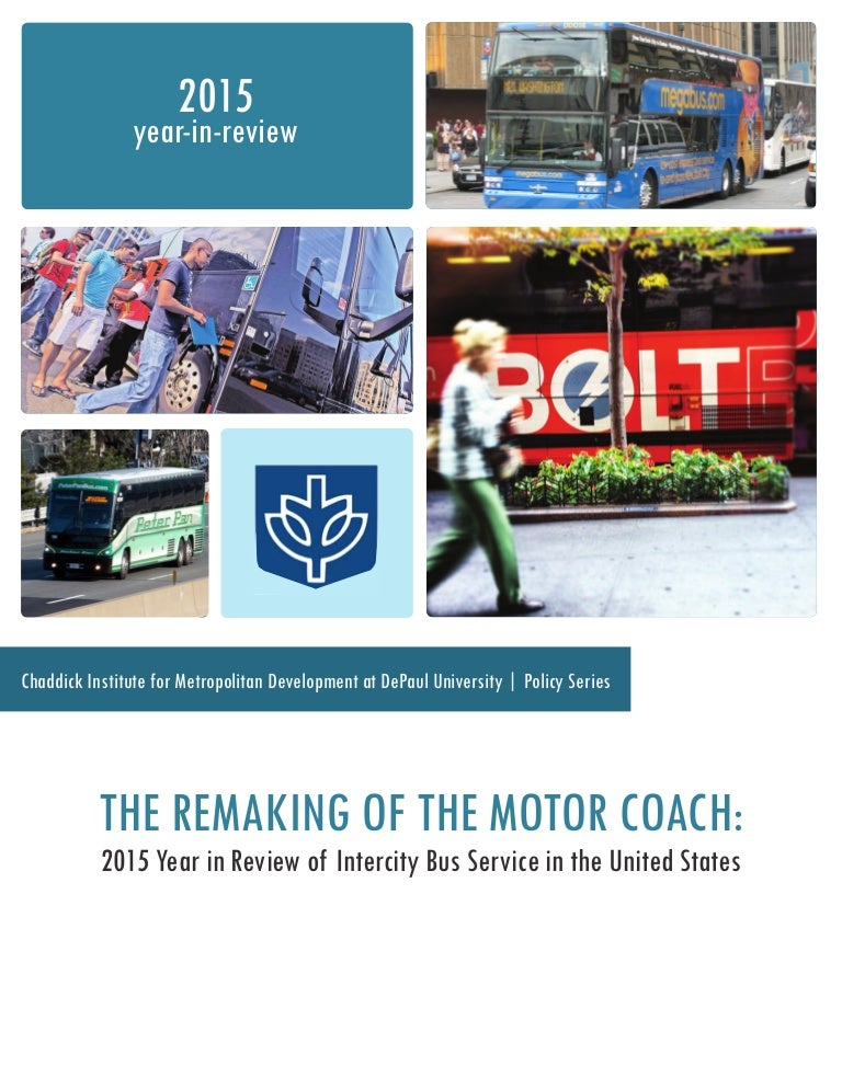 2015 Year In Review Of Intercity Bus Service In The United States