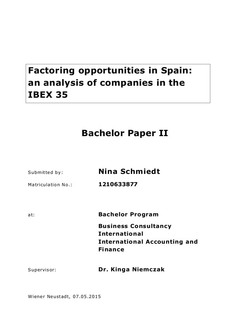 Factoring Opportunities In Spain An Analysis Of Companies The Ibe Wwwdocstoccom Docs 25142800 Seriesandparallelcircuitworksheet