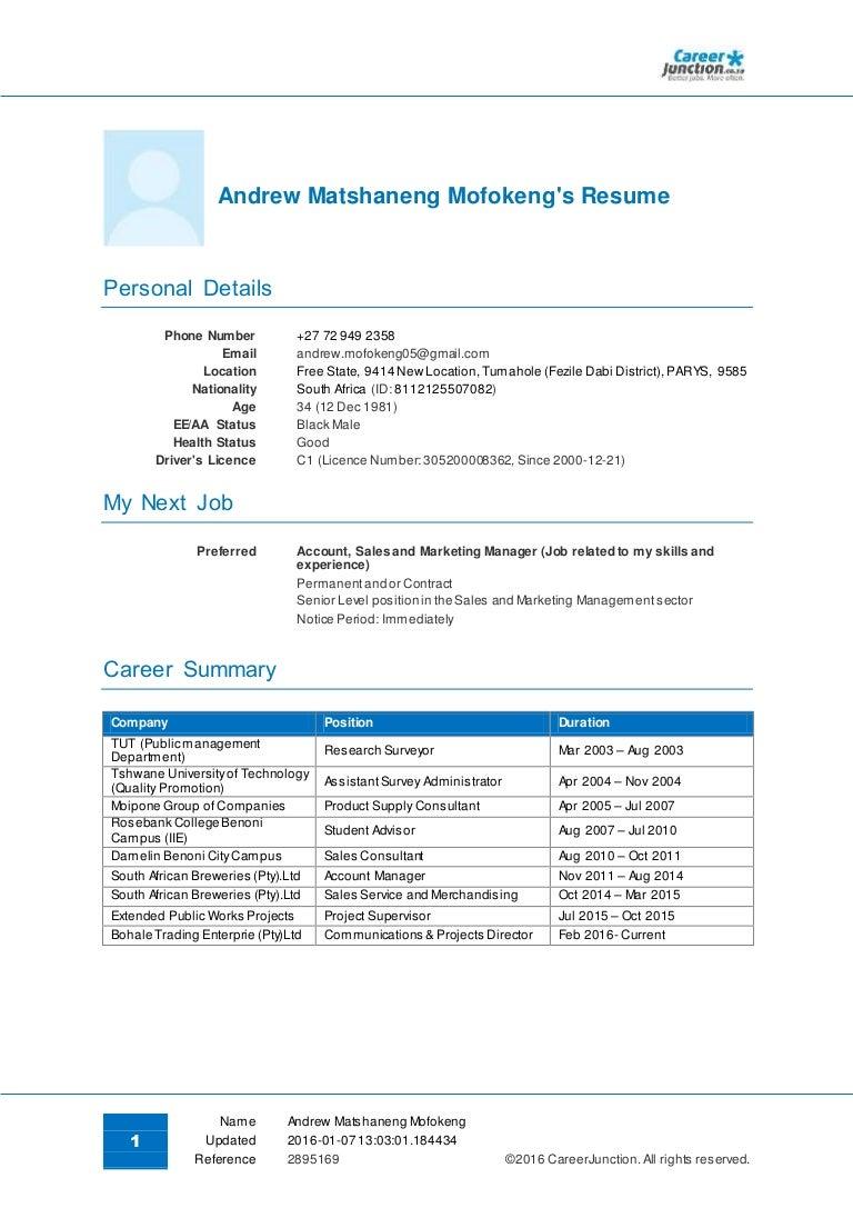 Nett Junior Accountant Lebenslauf In Gauteng Galerie - FORTSETZUNG ...