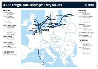 DFDS' Freight and Passenger Ferry Routes