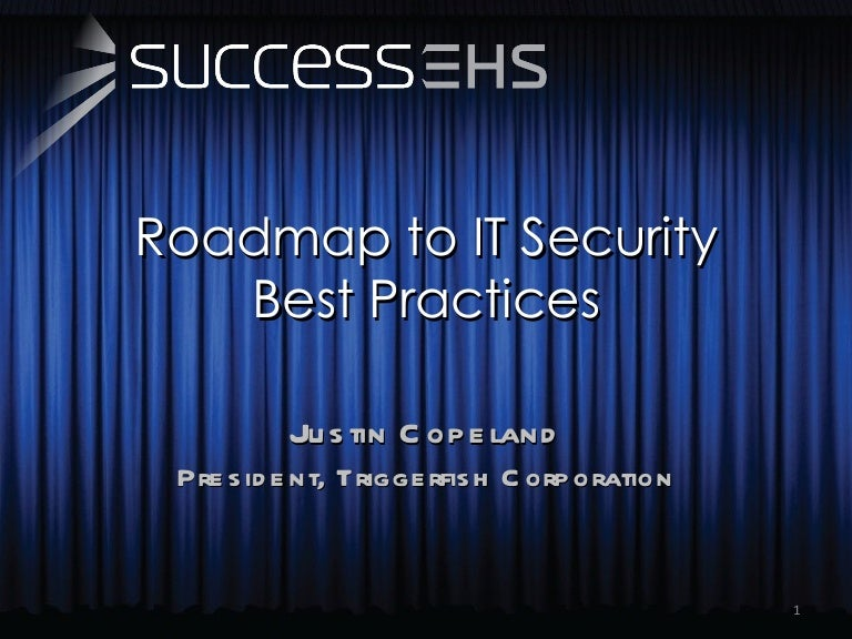 Roadmap To IT Security Best Practices - Security roadmap template
