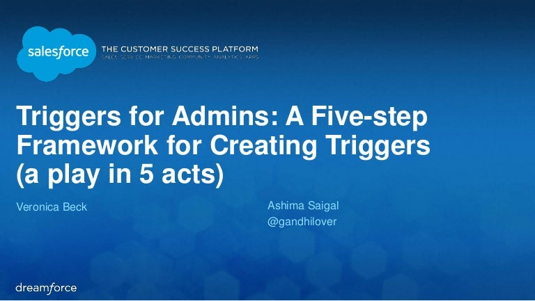 Triggers for Admins: A Five-step Framework for Creating Triggers