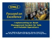 Implementing an Asset Management System for Safe and Reliable Operations -FINAL