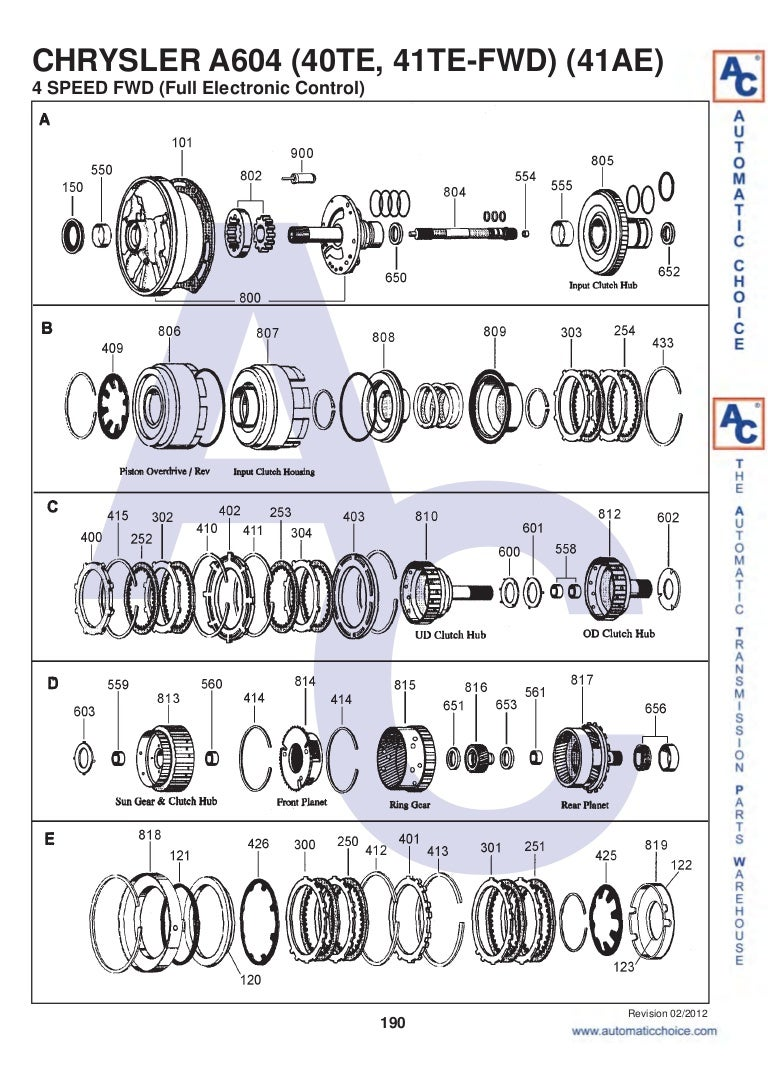 41te Transmission Diagram - Wiring Diagram Directory on