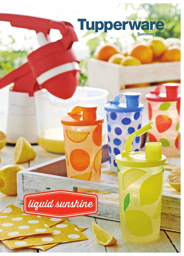 Tupperware Summer 2015 Full Catalog Bring Your Own Lunch Set