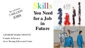NEED A JOB - A # 7 skills  - need of the hour - unemployment 2030 - arise roby dreams