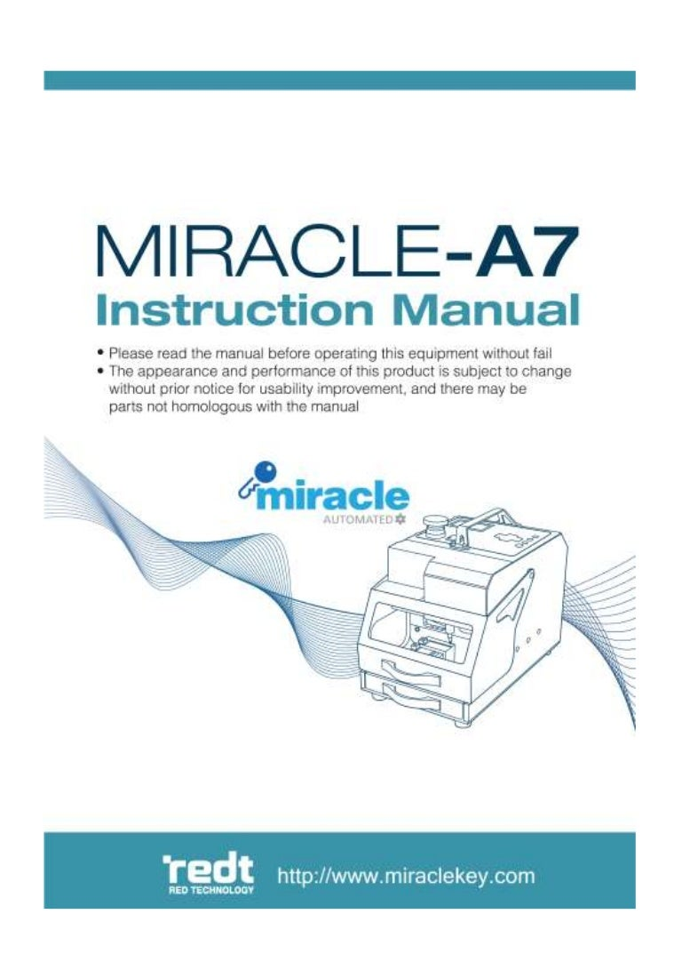 Miracle A7 Key Cutting Machine User Manual Ldv Ignition Switch Wiring Diagram