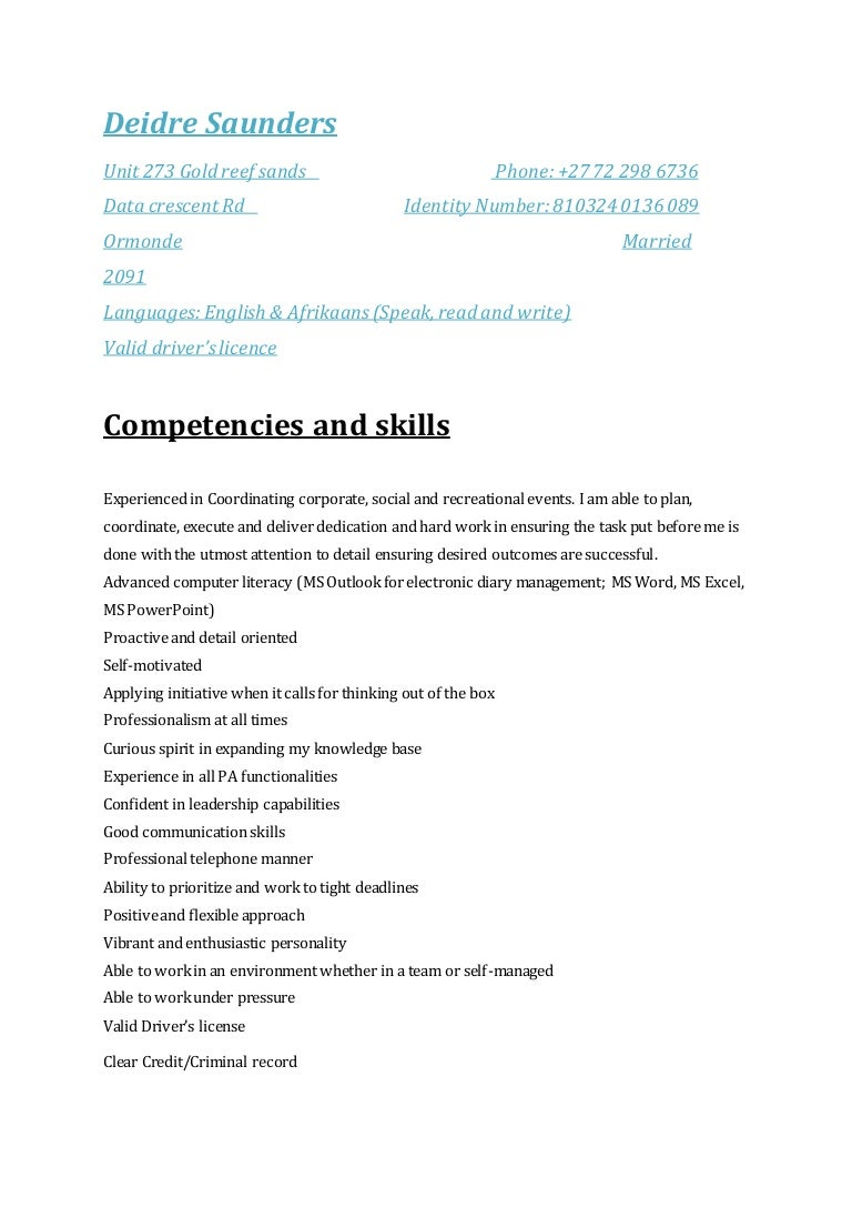 radio personality resume objective presenter announcer resume