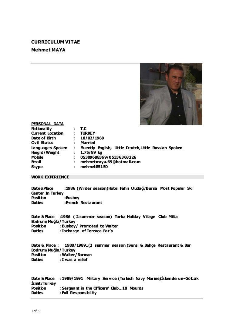 MEHMET MAYA UPDATED CV
