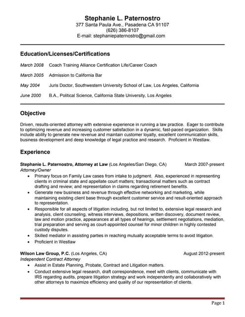 slp resume 16