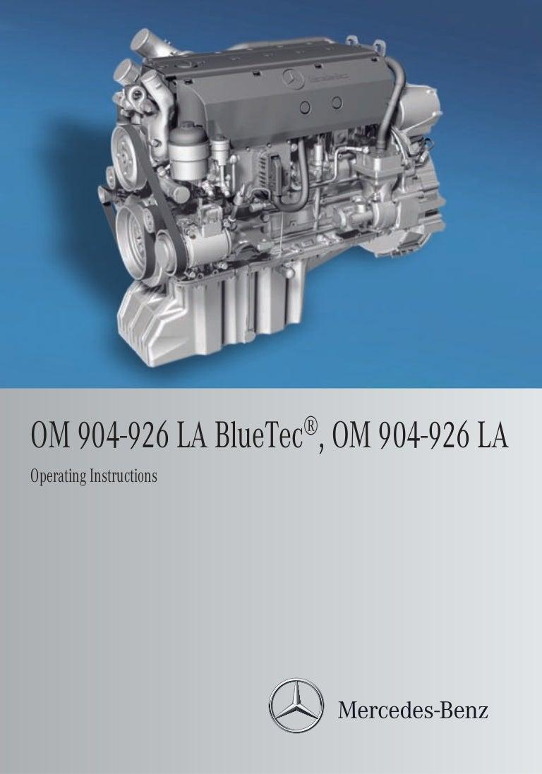 mb om 926 la rh slideshare net Mercedes-Benz Engine Diagram Mercedes 906 Engine Parts