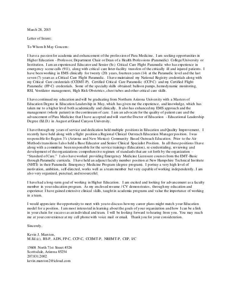 Flight Paramedic Cover Letter