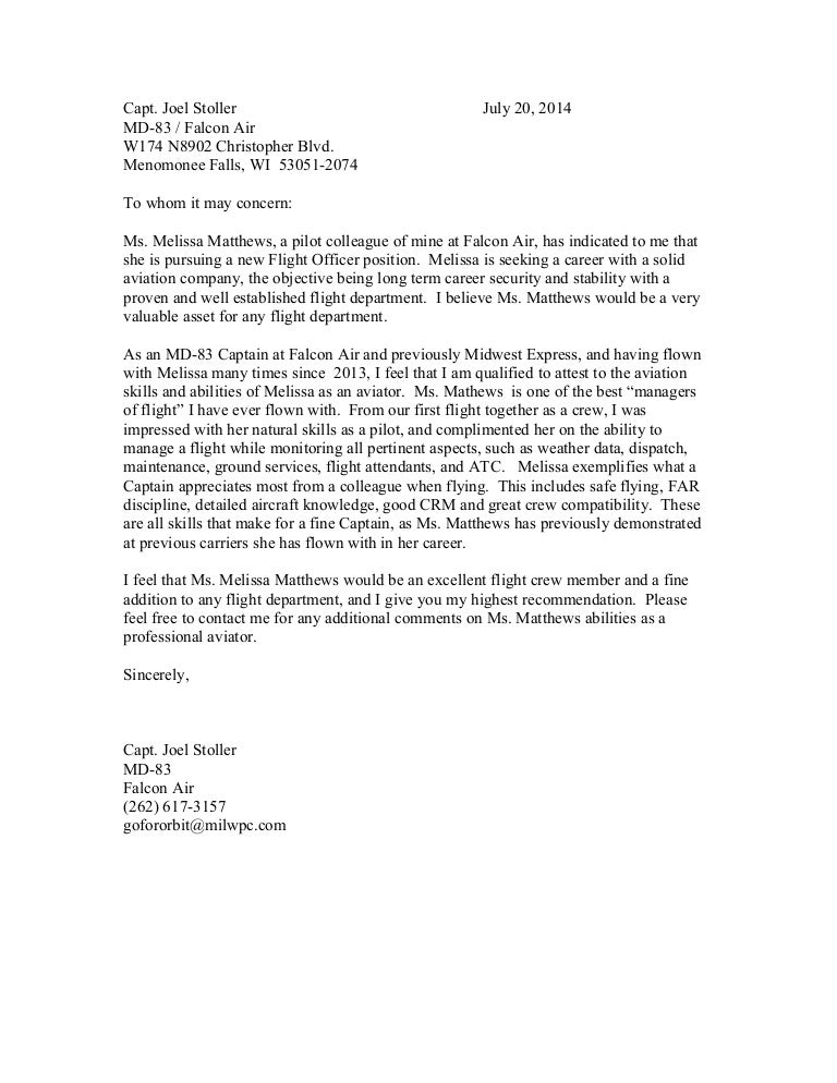 flight attendant recommendation letter - Juve.cenitdelacabrera.co