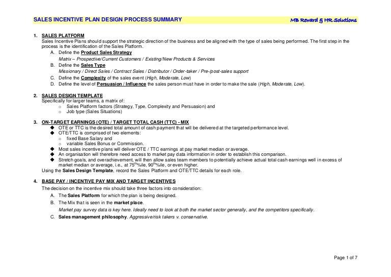 sip design process summary